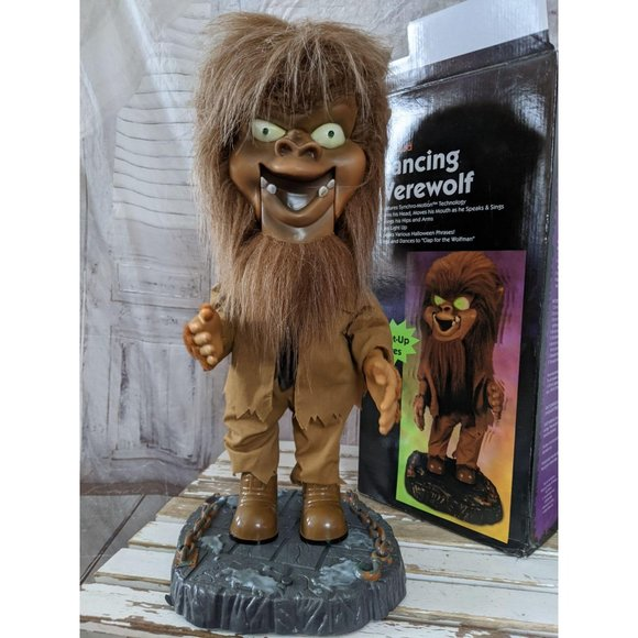 Gemmy Big head dancing werewolf new Halloween prop
